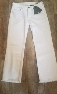 NWT 26 Allsaints white Belle Cropped flair jeans